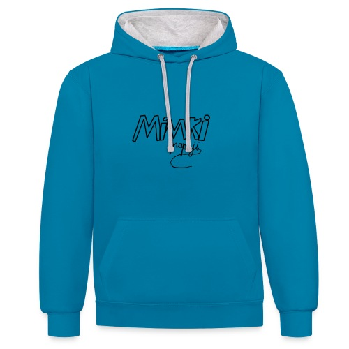 Mimki papaji #2 official logo - Contrast Colour Hoodie