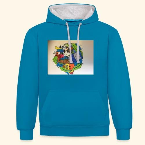 hoodie's and shirts - Contrast hoodie