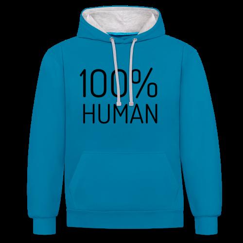 100% Human - Contrast hoodie