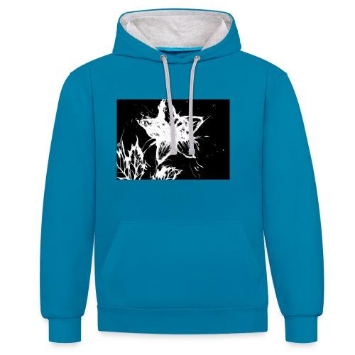 3 - Contrast hoodie
