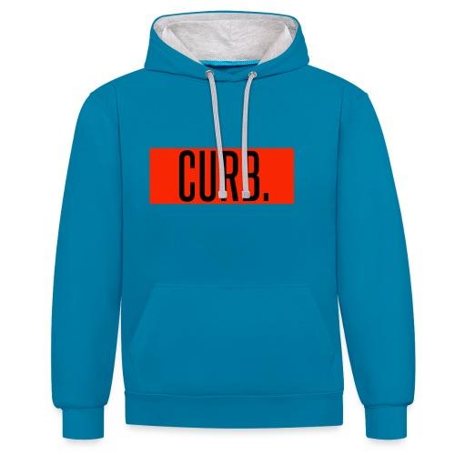 CURB red - Kontrast-Hoodie