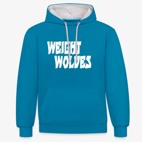 WEIGHT WOLVES FINAL WHITE - Kontrast-Hoodie