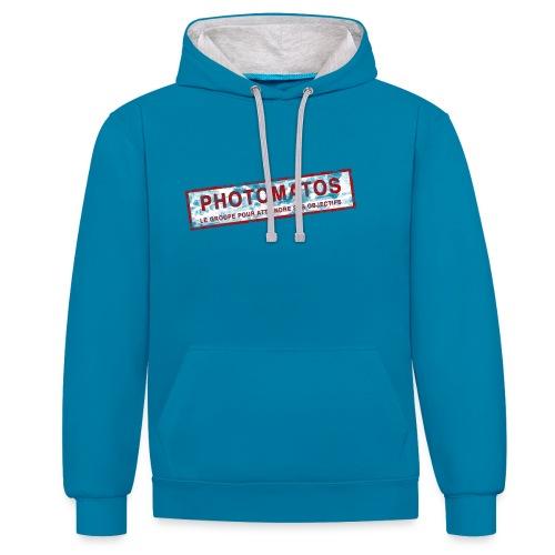 PhotoMatos - Sweat-shirt contraste