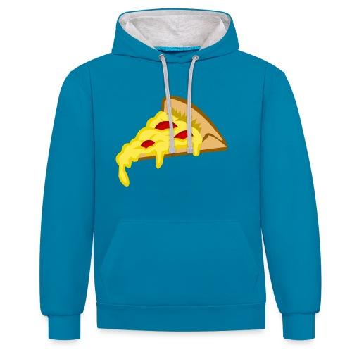 If it fits my macros Pizza - Contrast hoodie