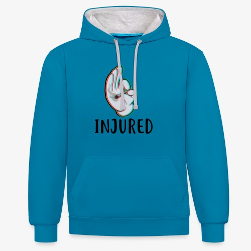 Injured Clothes / Special 1 - Felpa con cappuccio bicromatica