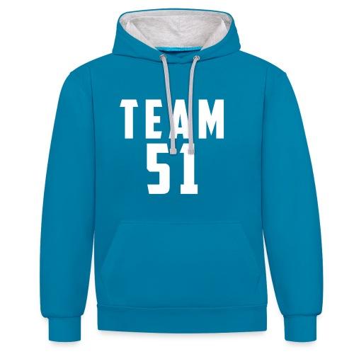 Logo team 51 modern - Sweat-shirt contraste