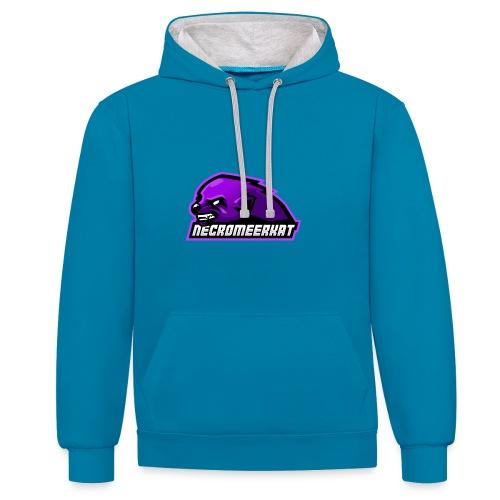 Necromeerkat logo + texte - Sweat-shirt contraste
