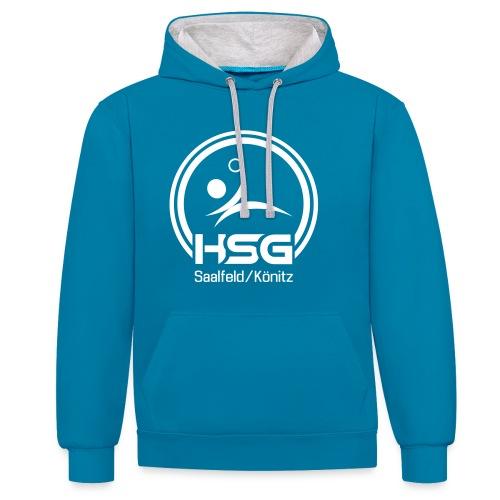 Logo HSG Saalfeld Koenitz - Kontrast-Hoodie
