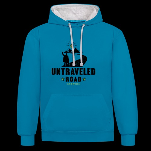 Untraveled Road Logo - black/small - Kontrast-Hoodie