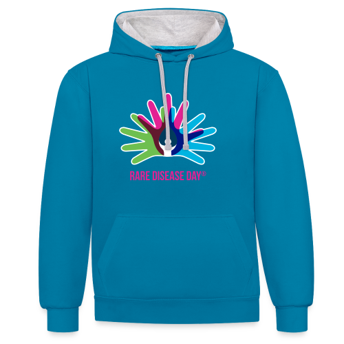 Rare Disease Day - Contrast Colour Hoodie