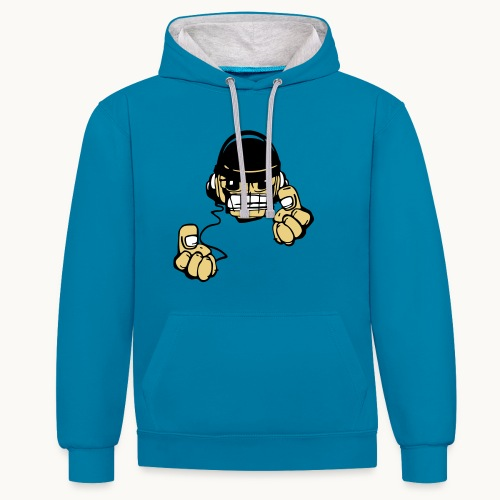 Micky DJ - Sweat-shirt contraste