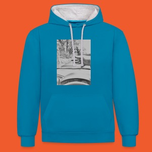 Well wave T-Shirt - Contrast Colour Hoodie