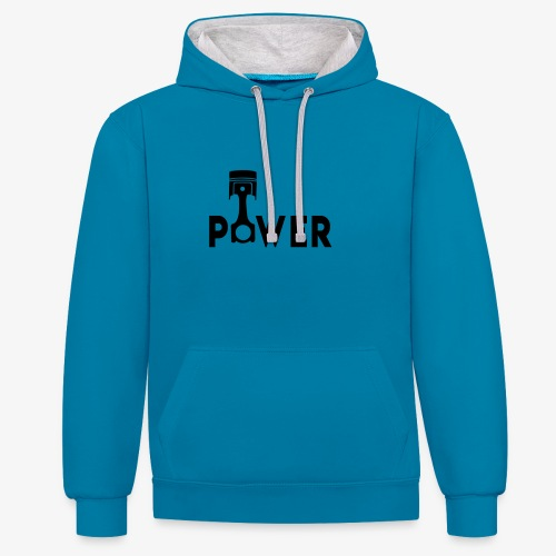 Power - Contrast Colour Hoodie