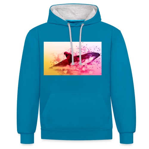 LowpolyWhale - Sweat-shirt contraste
