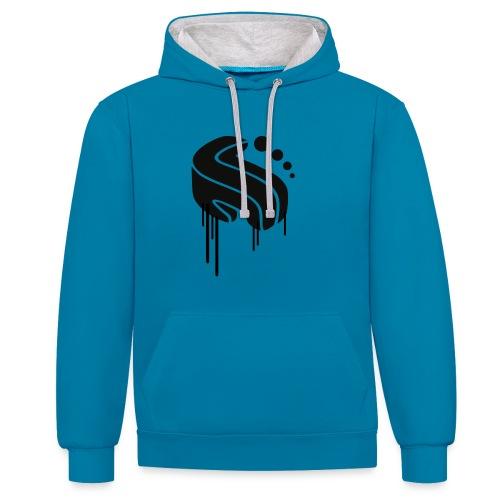 Logo mind Kopie 1 - Kontrast-Hoodie