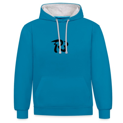 R3 MILITIA LOGO - Contrast Colour Hoodie
