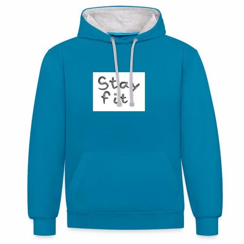 Stay Fit - Kontrast-Hoodie