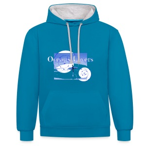 Ocean's Lovers - Sweat-shirt contraste