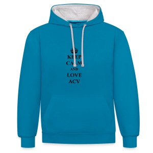 Keep Calm and Love ACV - Kontrast-Hoodie