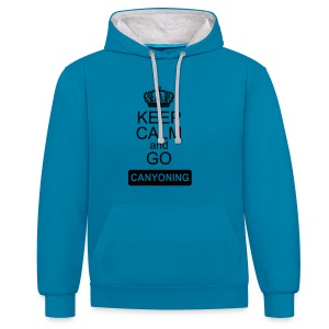 keep calm and go canyoning 2 - Kontrast-Hoodie