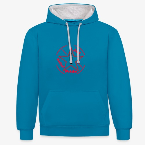 Believe! Be Joyful and Have Complete Pride ! - Contrast Colour Hoodie