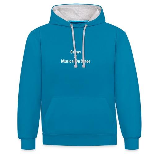 shirt achterkant grows - Contrast hoodie