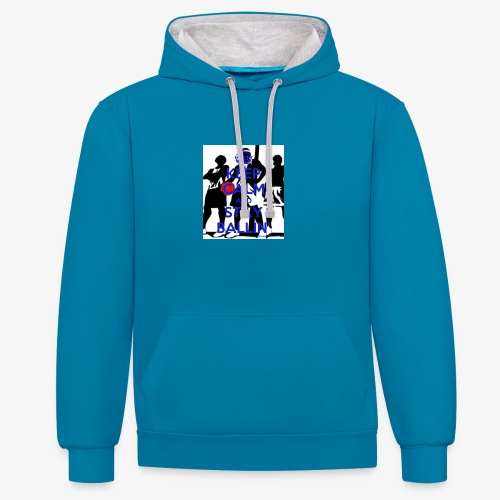 Keep Calm and Stay Ballin' - Contrast Colour Hoodie