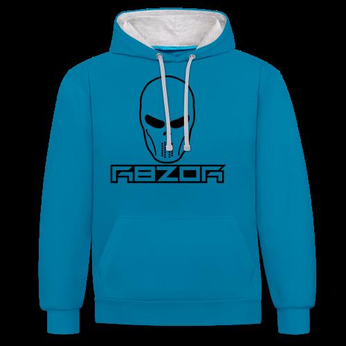 R8ZOR LOGO B/W - Contrast Colour Hoodie