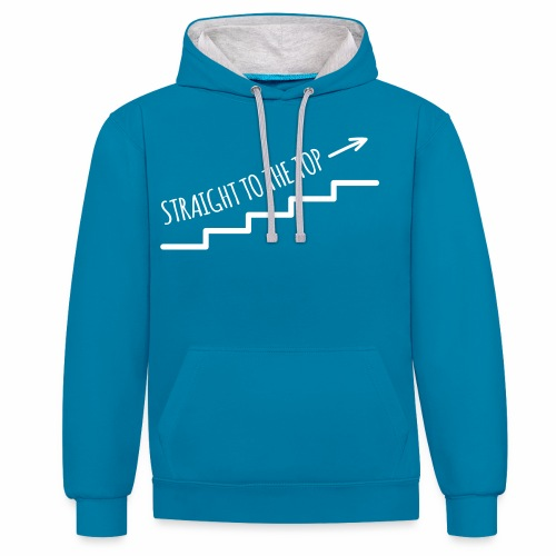 Straight to the top - Kontrast-Hoodie