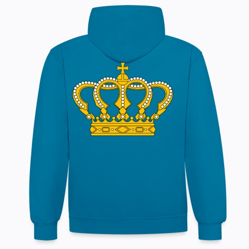 Golden crown - Contrast Colour Hoodie