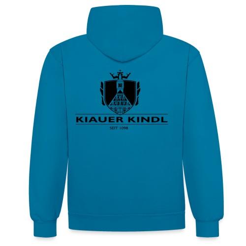Kiauer Kindl - schwarz - Kontrast-Hoodie