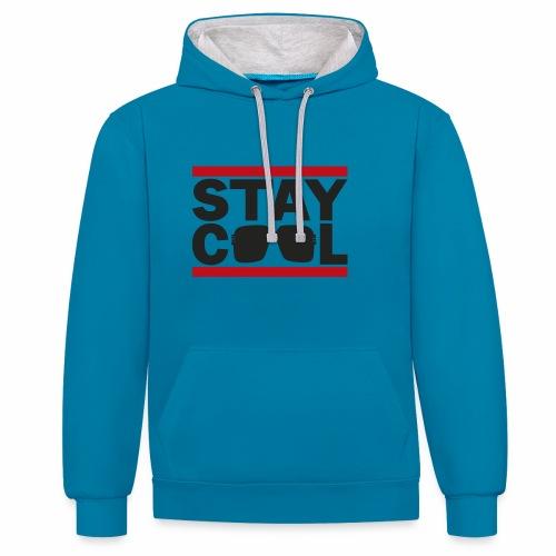 Stay Cool ver01 - Kontrast-hættetrøje