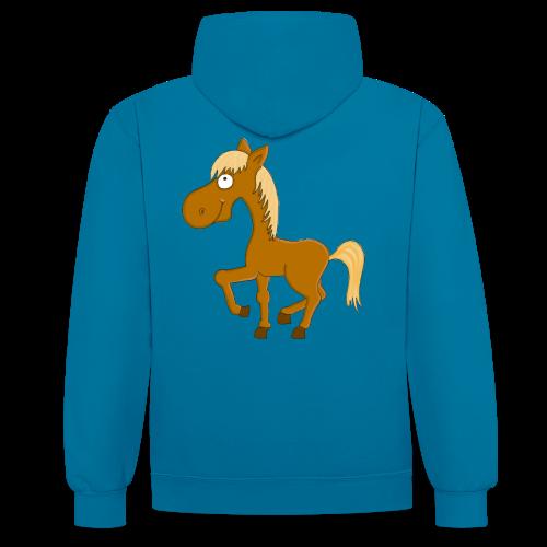 Süsses Pferdchen - Kontrast-Hoodie