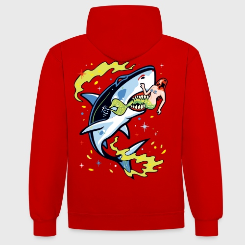 Requin mangeur de sirène - Sweat-shirt contraste