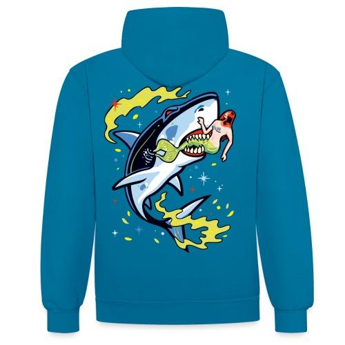 Requin mangeur de sirène - Sweat-shirt contraste
