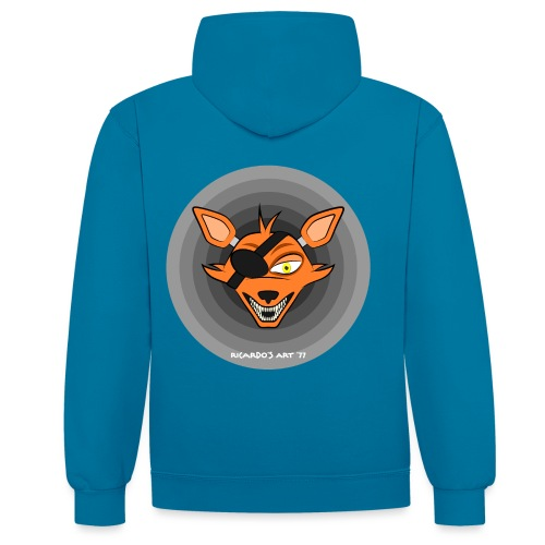 Five Nights at Freddy's - FNAF Foxy - Contrast Colour Hoodie