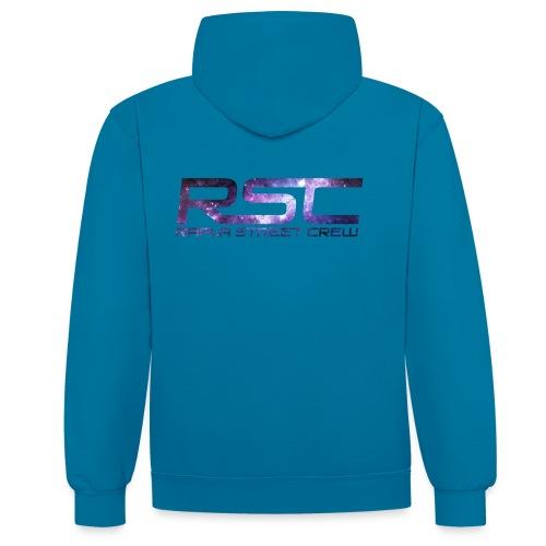 Rapla Street Crew Logo Galaxy - Contrast Colour Hoodie