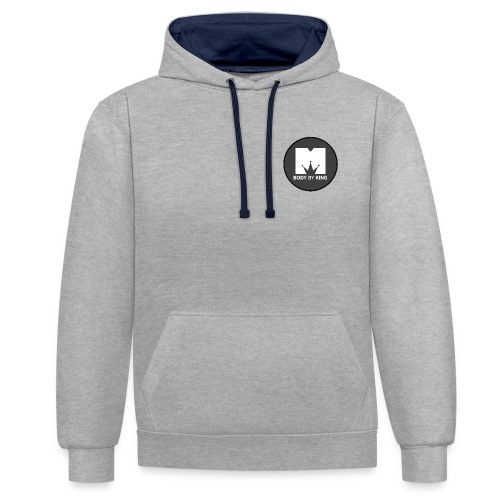 BodyByKing Banner - Contrast Colour Hoodie