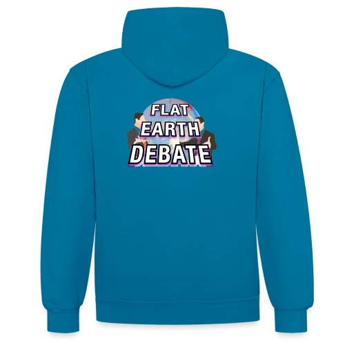 Flat Earth Debate Solid - Contrast Colour Hoodie