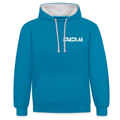 SUSI.AI Logo - Contrast Colour Hoodie