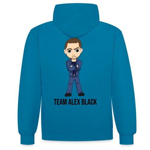 Alex + texte - Sweat-shirt contraste