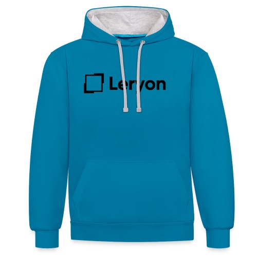 Leryon Text Brand - Contrast Colour Hoodie