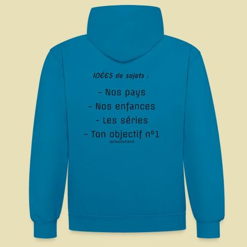 arrière, idées convo - Sweat-shirt contraste