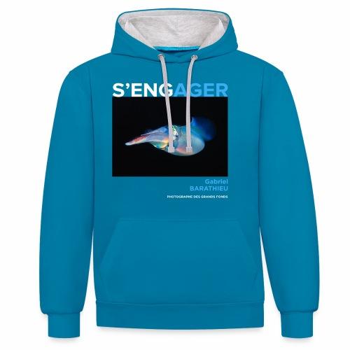 1 Achat = 1 Don à l'association Deep blue explore - Sweat-shirt contraste
