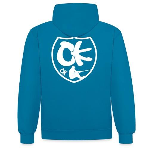 OK OH Logo - Kontrast-Hoodie