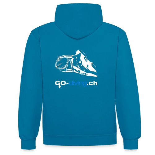 Go Diving - Sweat-shirt contraste