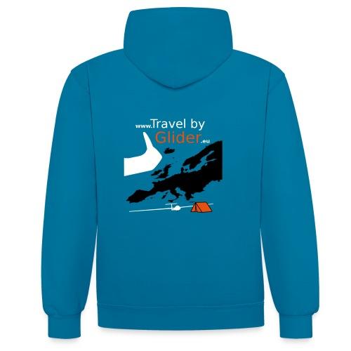 TravelByGlider_Shirt_Logo - Kontrast-Hoodie