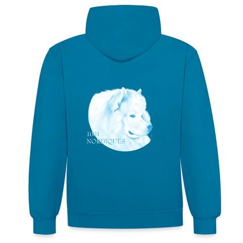 samoyede - 1001 nordiques - Sweat-shirt contraste