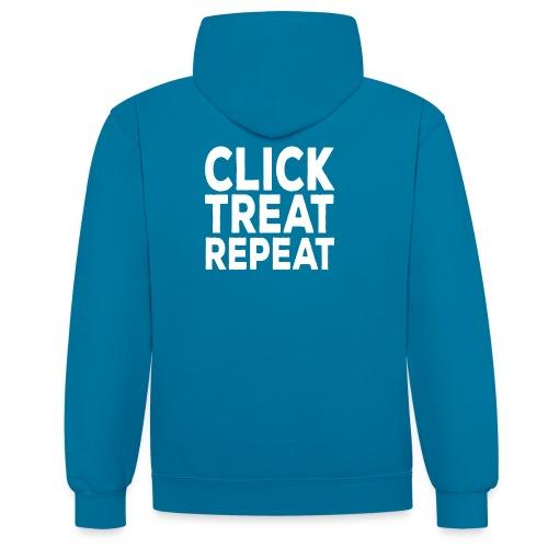 clicktreatrepeat wit - Contrast hoodie