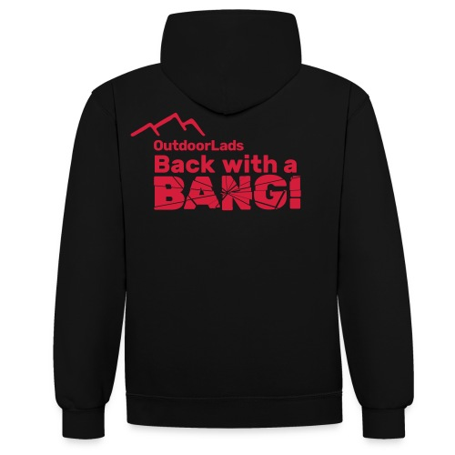 OutdoorLads Back With A Bang - Contrast Colour Hoodie